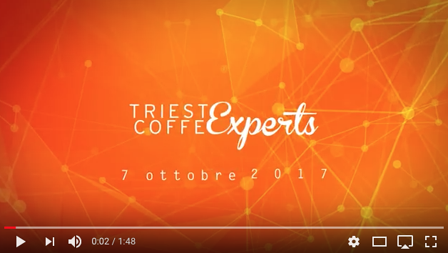 Trieste Coffe Experts 2017 invitation