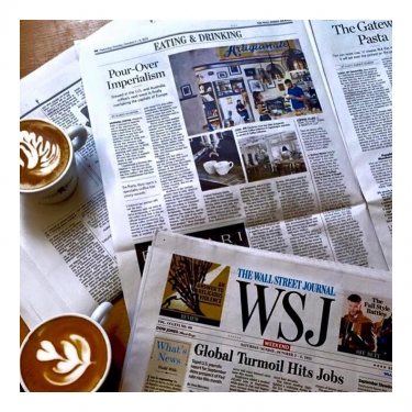 "Pronti per la ""coffee next wave""? Francesco Sanapo e il caffè superiore sul Wall Street Journal"