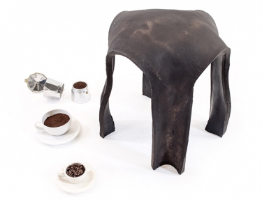 Re.Bean Coffee Stool designed by Kristen Wang.